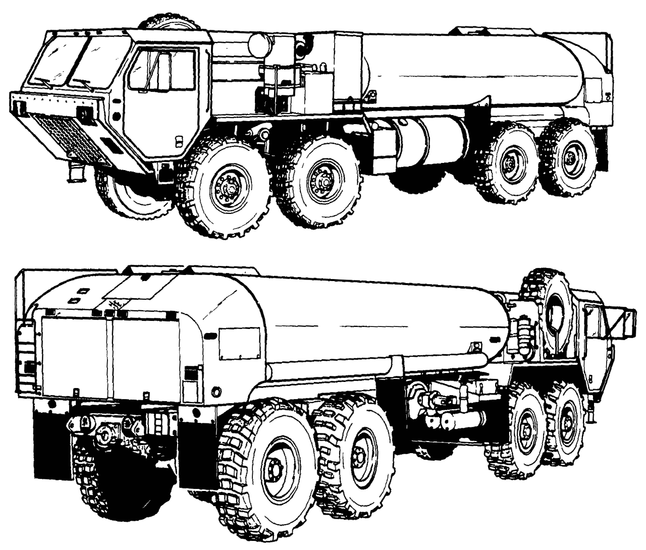 army fuel truck clip art sketch coloring page. Black Bedroom Furniture Sets. Home Design Ideas