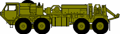 The M984 recovery truck can tow most Army tactical trucks.