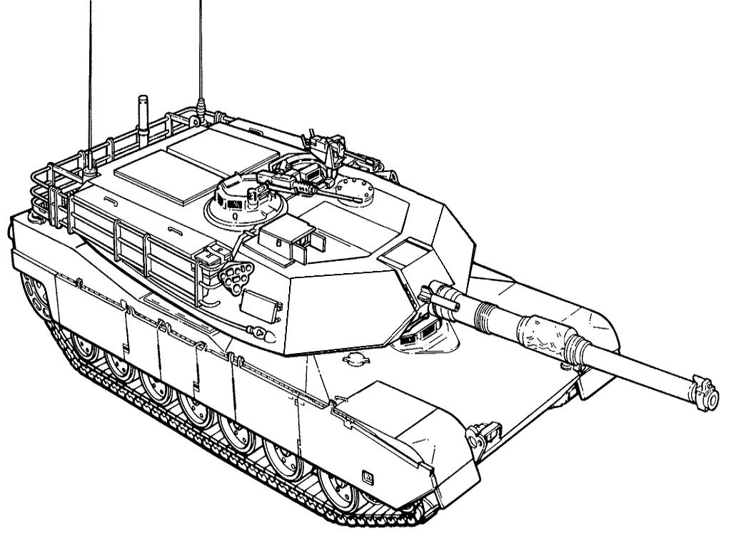 M1A2  M1 Abrams Tank Drawing